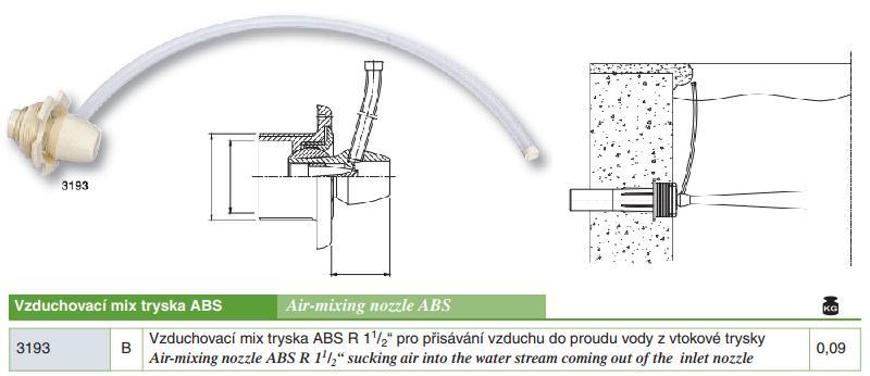 """Vzduchovací mix tryska ABS R 11/2"""""""