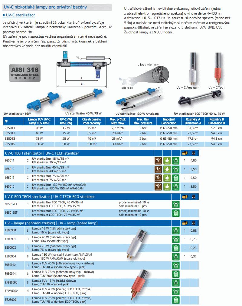 UV - C TECH sterilizátor 40W/35 m3